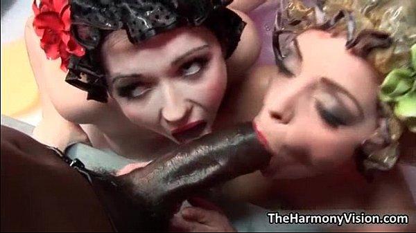 Two sexy sluts go crazy sucking