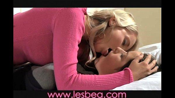 Lesbea blonde teen gets seduced by milf
