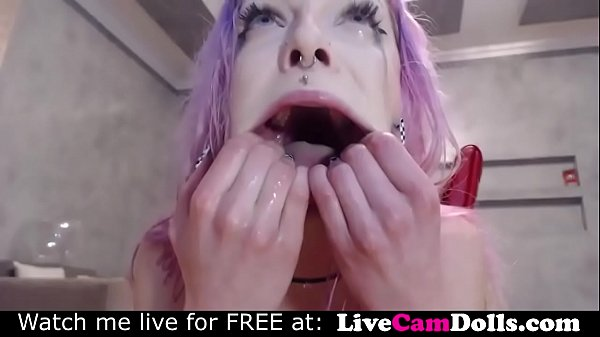Multiple squirting orgasms self slapping torment!