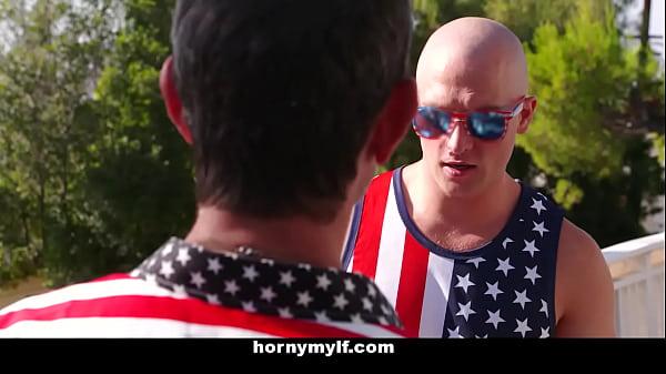MYLF - Stepson Gets Fucked By Horny Mylf on July 4