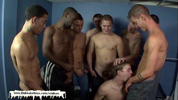 2018-11-11 16:07:03 - Bareback Gangbang and Facial Cumshots in the Gym for Bukkake Boy 10 min  HD http://www.neofic.com