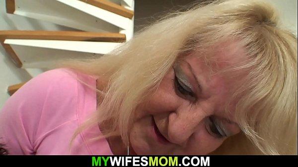Big-cocked guy fucks blonde mother-inlaw