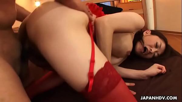 Brunette Asian slut getting creampie fucked by the dude