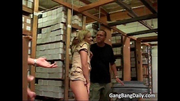 Factory worker gangbang