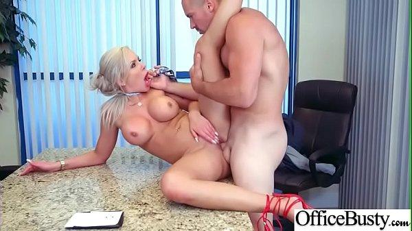(Nina Elle) Busty Horny Slut Office Girl Enjoy Sex movie-21