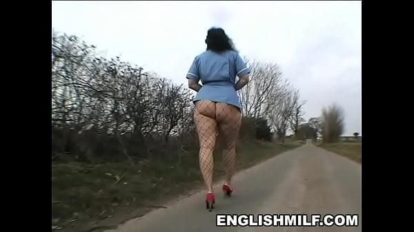 Толстая медсестра в колготках