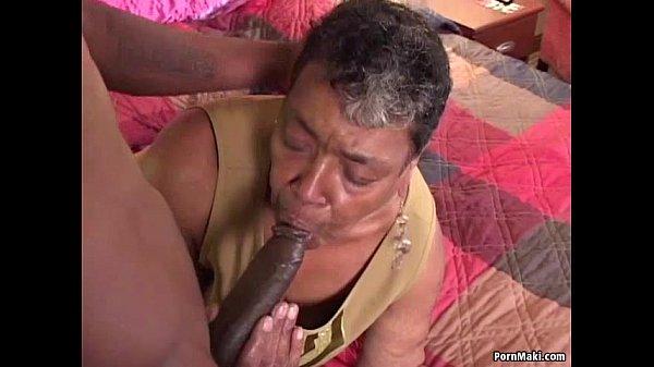 loves cock Granny black