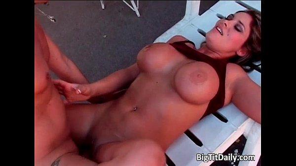 Latina babe with big tits sucks huge