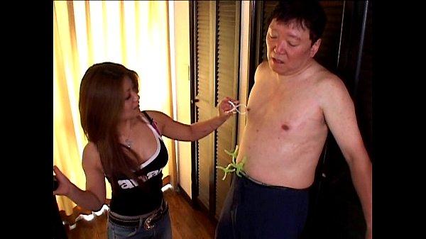 Женщина самотык на присоске