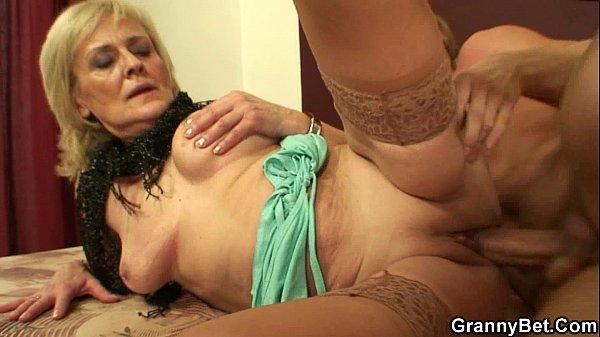 Horny skinny granny