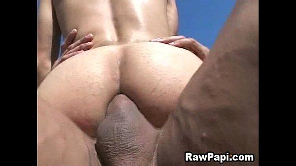 Sexy Latino Gay Get His First Bareback