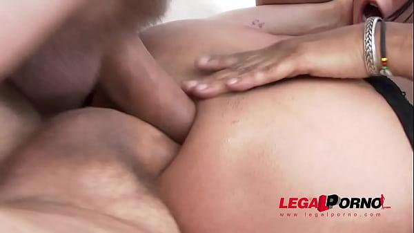 Spanish whore Francys Belle Airtight DP & Double anal Treatment