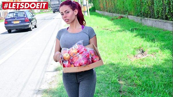 Juicy big ass redhead Latina rides a big dick (Canela Skin)