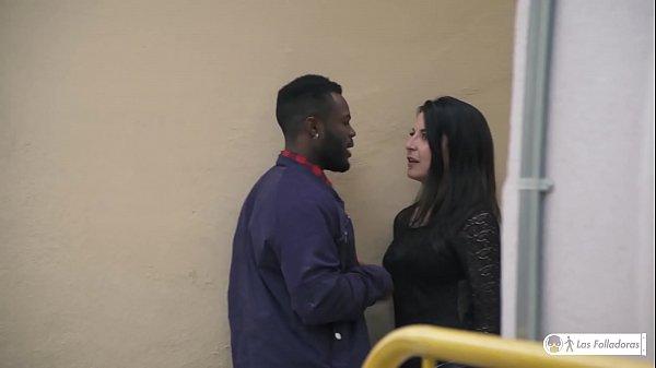 LAS FOLLADORAS - Sexy Latina teen Jade Presley fucks black newbie guy