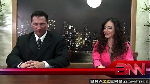 Brazzers - Big Tits at Work -  Fuck The News scene starring Ariella Ferrera, Nikki Sexx and John Str
