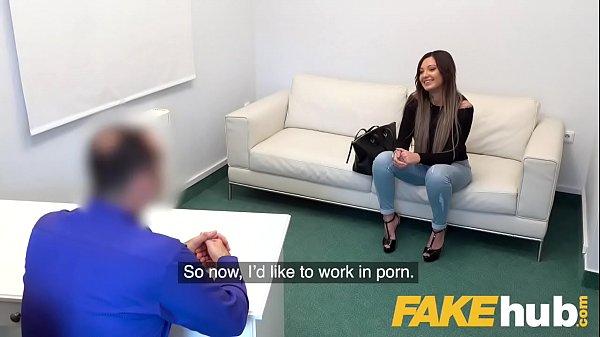 Fake Agent Sexy tattooed Ukrainian babe loves deepthroat and fucking