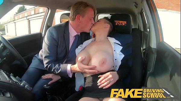 Fake Driving School Busty businesswoman Tory Candi Jackson fucked by boss