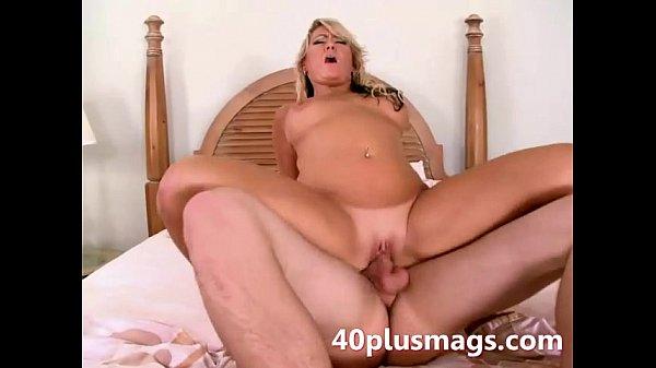 Divorced blonde Milf goes anal