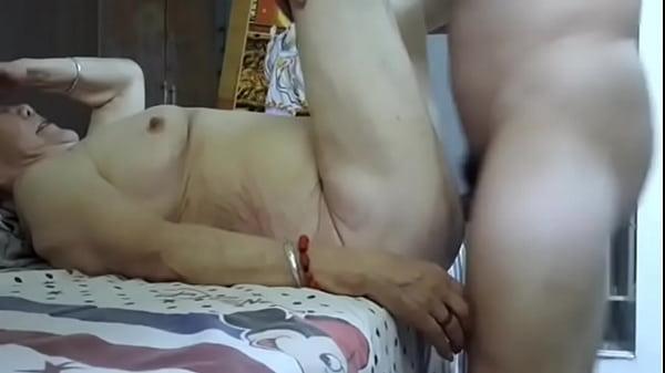 Abuela china de 77 años penetrada