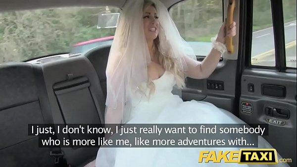 العروس تاكسي وهمية ليكون يهرب من حفل زفافها