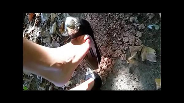 Underbrush Destruction (crush in high heels)