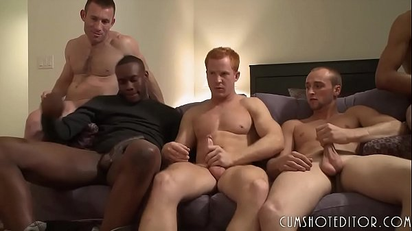 Gay Big Cock: Great Young Studs Group Orgy