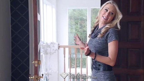 MILF client Morgan Pornstar potential Katie fucks PureMature