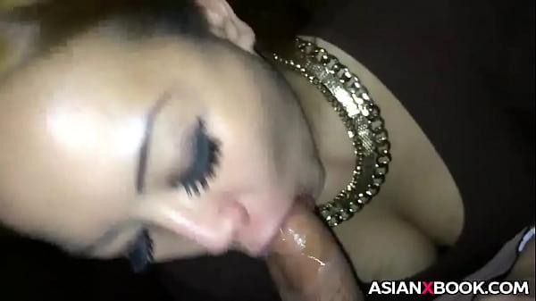 Quick asian POV blowjob