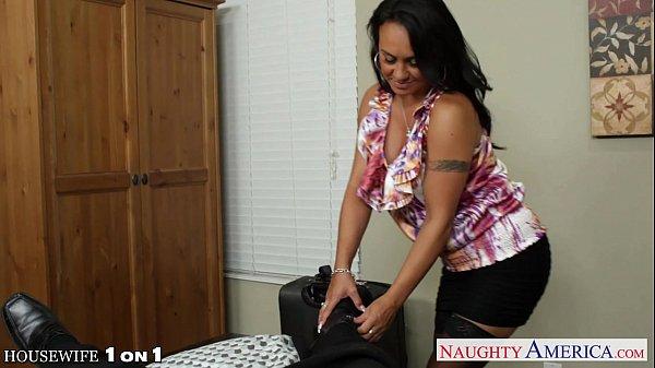 Busty brunette housewife