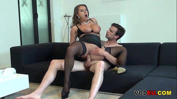 Curvy milf babe pleasures a hard cock