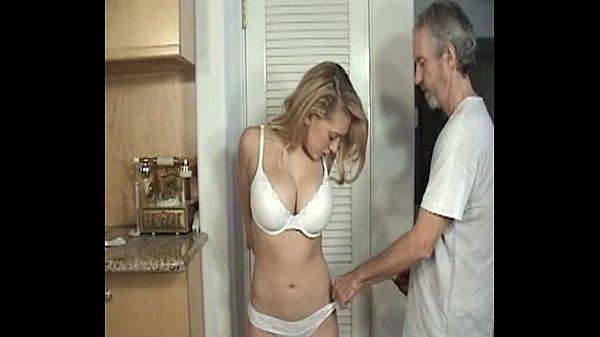 Mature lingerie slut tied up and groped house burgler