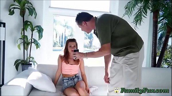 Teen Daughter Sucks Cock To Get Cellphone Back