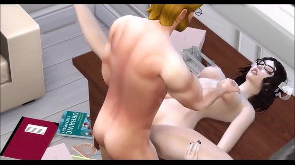 Красивая рыжая студентка сдала зачет преподу порно дома