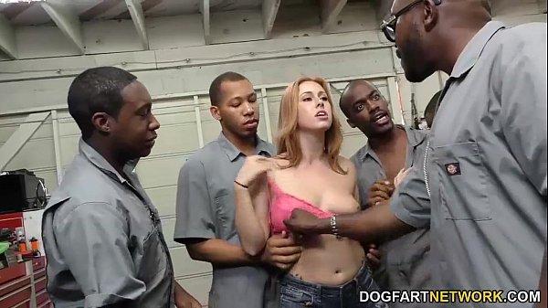 Milf caught with black men