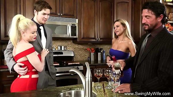 Обмен семейных свингеров парами видео
