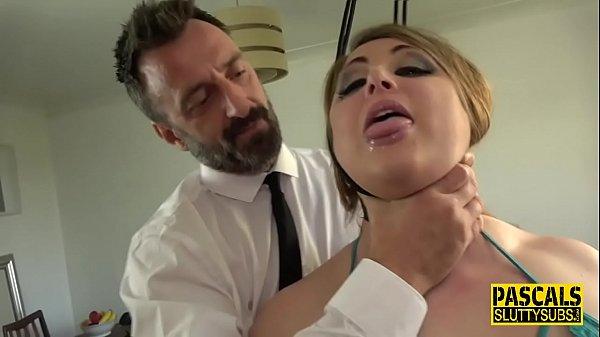 Throated sub rough fucked