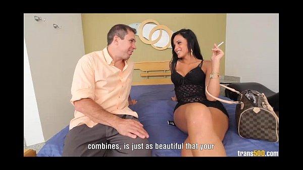 TS Juliana Soares stuffs guys ass full of cock