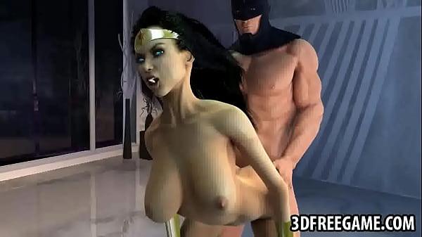 Бэтмен трахает вандер вумен играть