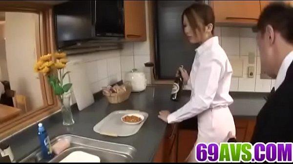 Hibiki Ohtsuki tries cock in each of her love holes