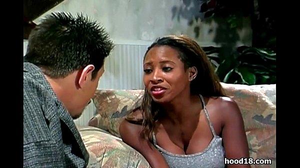 Black girl sucks off her white man
