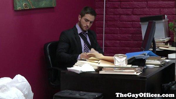 Gaysex office hunks hardcore fuckfest