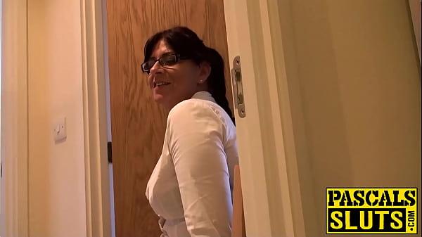 Horny amateur MILF with big ass enjoys hard pussy banging