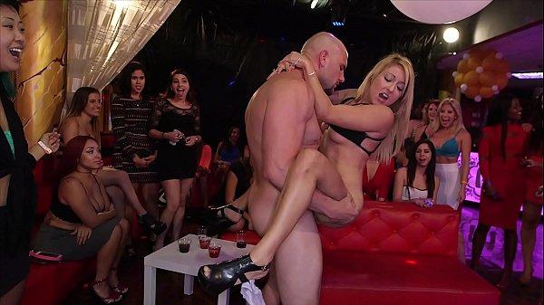 DANCING BEAR - Big Dick Studs Sling Dick In Strip Club During CFNM Party