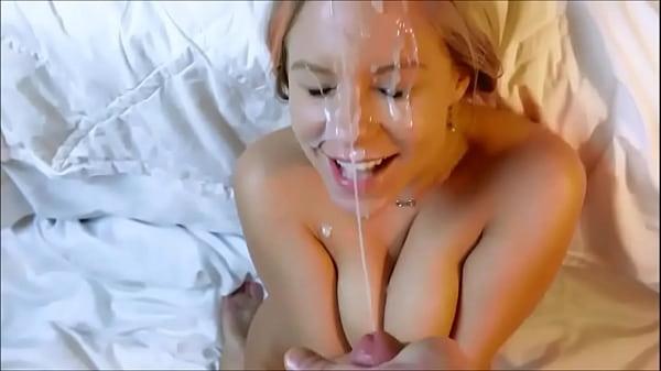 Unbelievable Facial Cumshot Shower POV