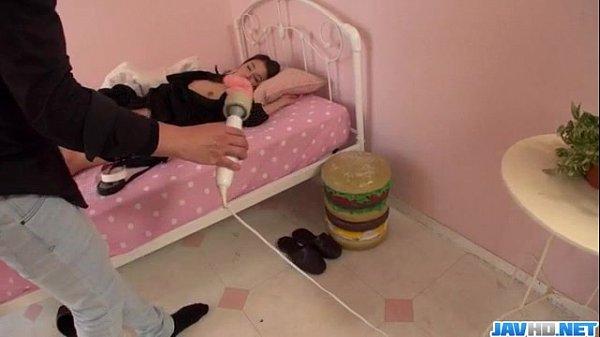 Sweet vibrator play in the bedroom with hot Mao Miyabi