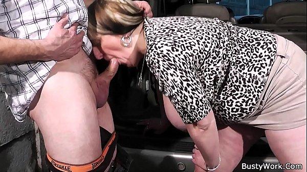 Boss fucks big titted worker
