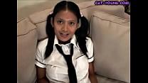 Asian Schoolgirl Stript...
