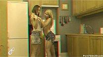 Sexy dykes in kitchen