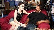teen girl and big black...