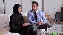 Hot Muslim teen getting...